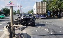Đi đám giỗ về, xe ô tô biển Đà Nẵng bị tai nạn ở Quảng Nam
