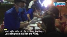 Những bóng áo xanh tình nguyện mùa dịch Covid -19 trên các tuyến đường Đà Nẵng