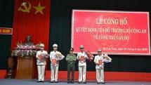 Quảng Nam: Công bố Quyết định điều động, bổ nhiệm Trưởng Công an các đơn vị, địa phương