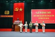 Công bố quyết định điều động, bổ nhiệm nhân sự chủ chốt của Giám đốc Công an tỉnh Quảng Nam