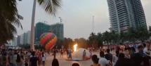 Đà Nẵng: Khinh khí cầu bất ngờ bốc cháy, một nữ phi công bị bỏng