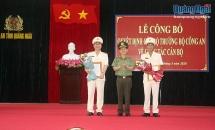 Phó Giám đốc Công an tỉnh Bình Định được bổ nhiệm làm Giám đốc Công an tỉnh Quảng Ngãi