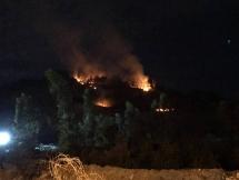 Nhiều điểm cháy lớn cùng lúc tại khu vực núi Phước Tường Đà Nẵng