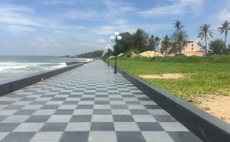 Mặt tiền phía biển của dự án Khu đô thị du lịch biển Phan Thiết