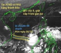 Áp thấp nhiệt đới ngoài Biển Đông có khả năng mạnh lên thành bão