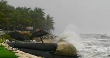 Bão số 5 gây mưa lớn tại các tỉnh Nam Trung Bộ