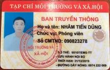 Đối tượng tống tiền bị bắt ở Gia Lai trình thẻ phóng viên Tạp chí Môi Trường & Xã Hội