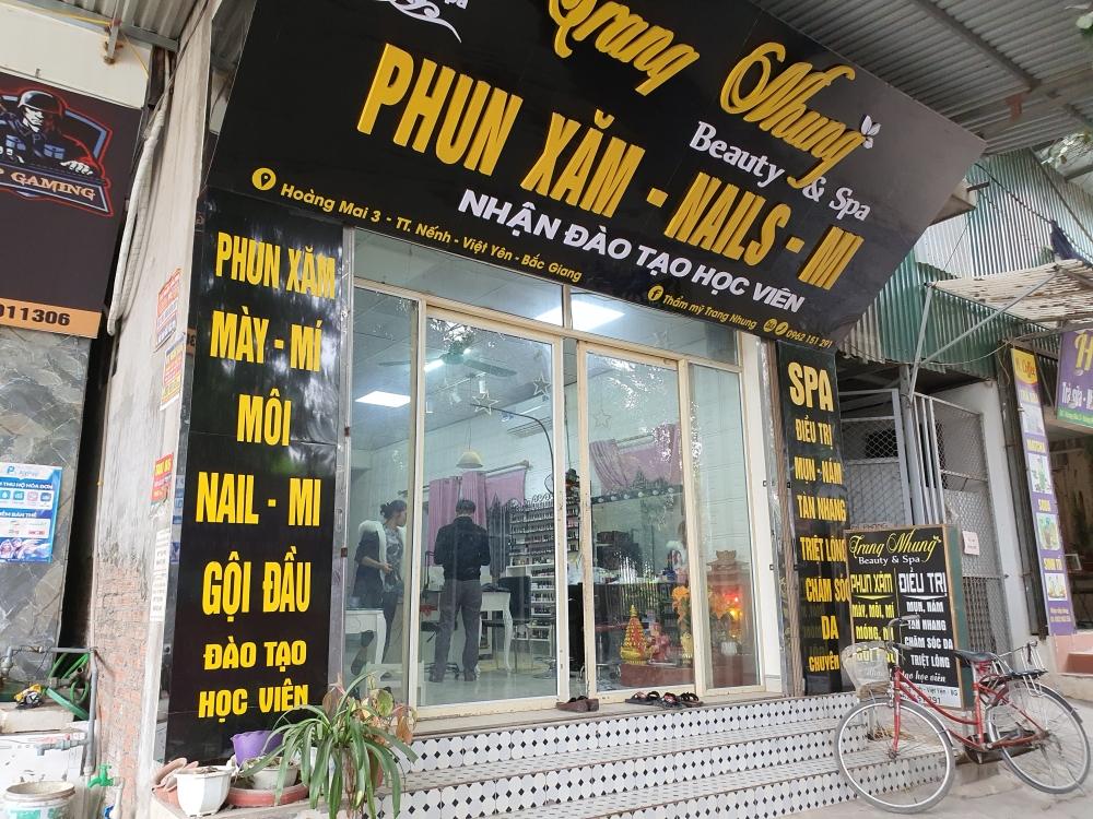 """Huyện Lạng Giang có che """"giấu"""" thông tin kiểm tra các cơ sở làm đẹp?"""