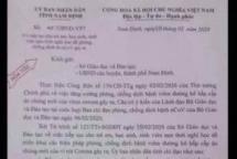 Nam Định: Xuất hiện văn bản giả mạo cho học sinh nghỉ học đến ngày 1/3