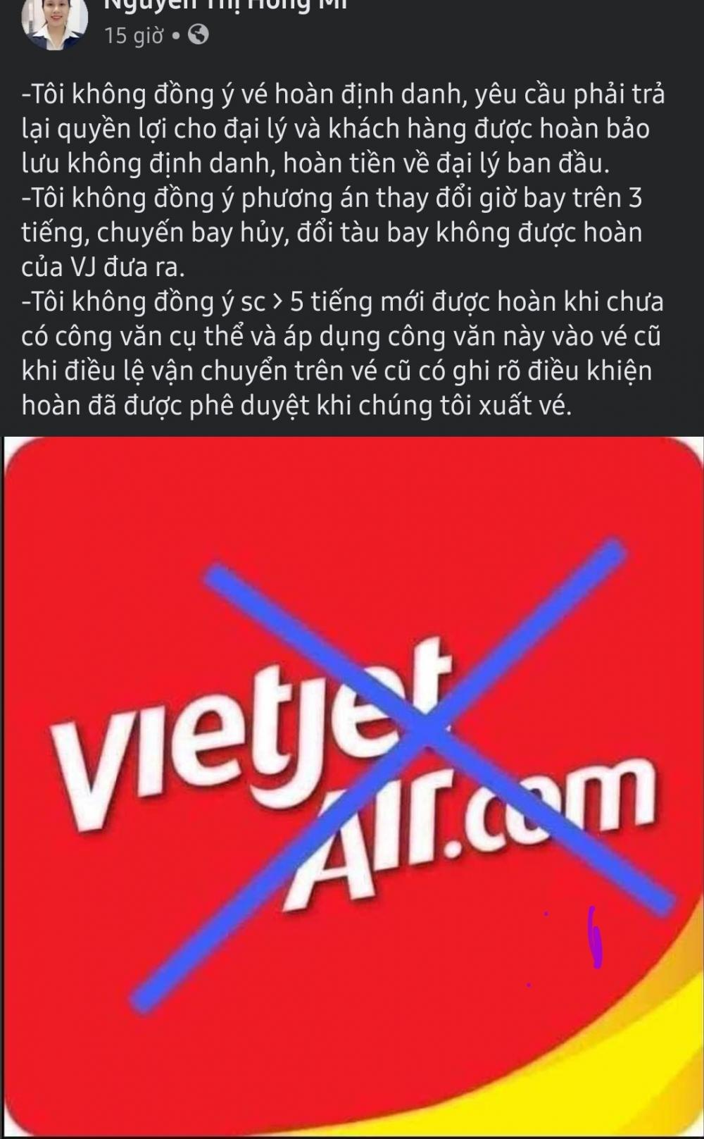Nhiều đại lý, phòng vé đồng loạt từ chối xuất vé của hãng Vietjet Air