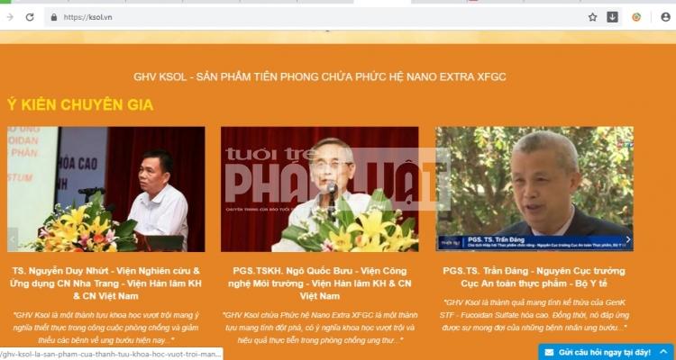 can trong voi thong tin san pham nano fuconmin ghv ksol va rockman tren mot so website