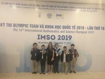 Trường Newton đóng góp nhiều huy chương nhất tại cuộc thi IMSO 2019