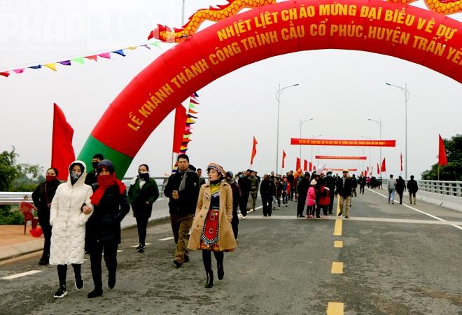 Cây cầu thứ 7 bắc qua sông Hồng tại Yên Bái chính thức được khánh thành