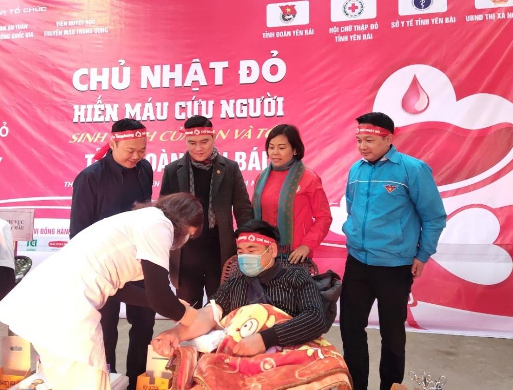 Yên Bái: Hơn 100 đơn vị máu được hiến trong ngày Chủ Nhật đỏ năm 2021