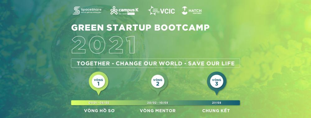 cuộc thi Green Startup Bootcamp 2021 dành cho học sinh, sinh viên và các dự án startup khởi nghiệp về môi trường.