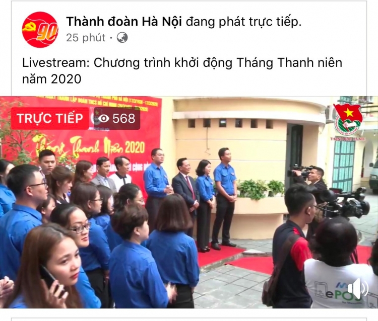 tuoi tre thu do livestream khoi dong thang thanh nien nam 2020