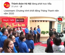 Tuổi trẻ Thủ đô livestream khởi động Tháng Thanh niên năm 2020