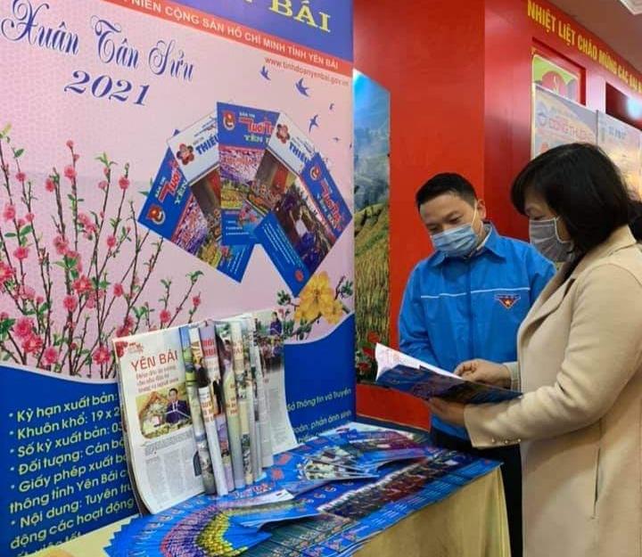 Hội báo Xuân Yên Bái 2021: Báo Tuổi trẻ Thủ đô được trưng bày trang trọng