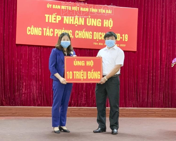 phu nu yen bai ung ho 200 trieu dong cho quy phong chong dich covid 19