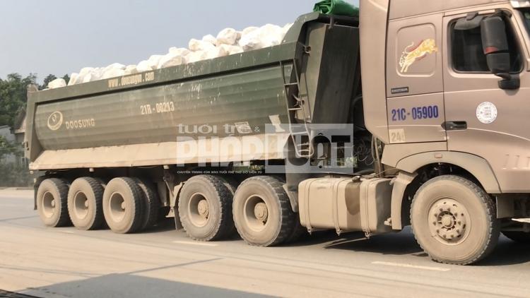 Sở GTVT Yên Bái thừa nhận có tình trạng xe quá tải như phản ánh
