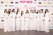 dan hoa hau a hau dien ao dai trang khoi dong cuoc thi hoa hau viet nam 2020