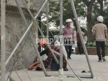 Công nhân tai nạn khi thi công dự án Hà Nội Golden Lake: Lãnh đạo phường bảo chuyện bình thường