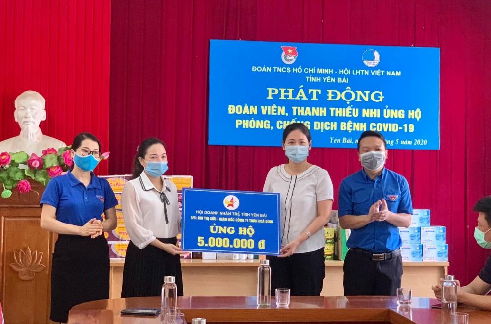 Tuổi trẻ Yên Bái ủng hộ 25 triệu đồng cho phòng, chống dịch Covid-19