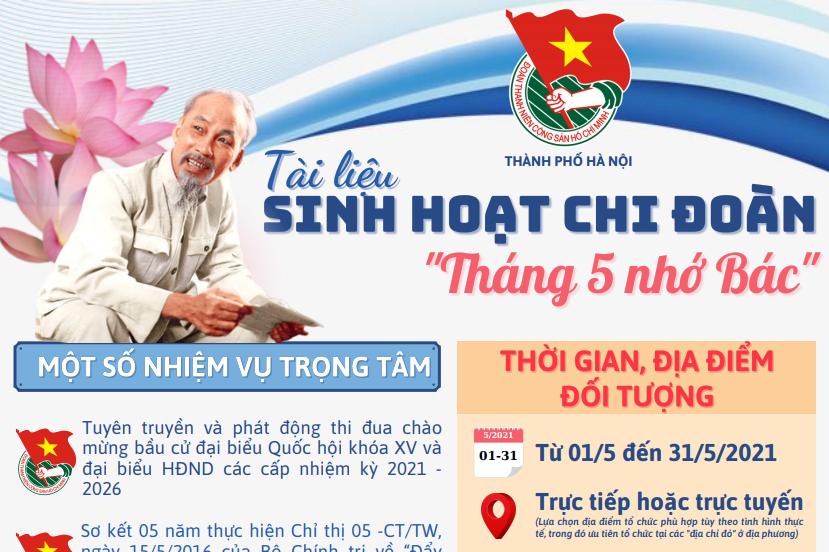 """Thành đoàn Hà Nội phát hành tài liệu sinh hoạt chi đoàn chủ đề """"Tháng 5 nhớ Bác"""""""