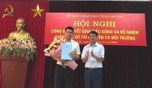 Sở Tài nguyên và Môi trường Lào Cai có tân Giám đốc