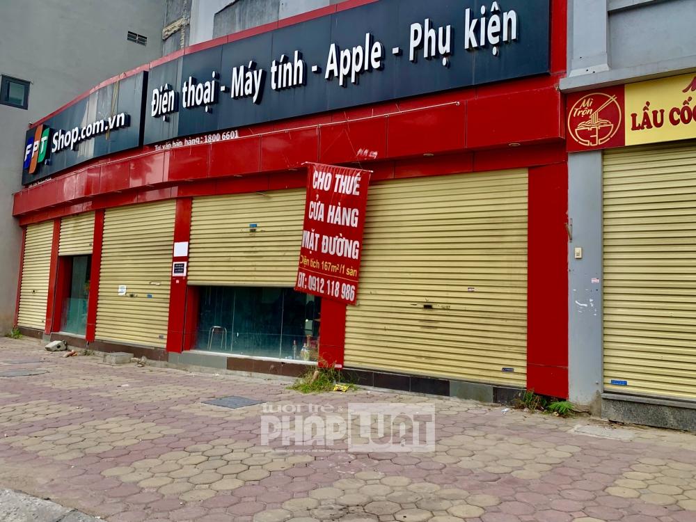 Mặt bằng cho thuê các tuyển phố Hà Nội dù giảm giá sâu nhưng vẫn vắng người hỏi thăm