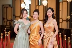 """Hoa hậu Mỹ Linh và Thuỳ Linh """"đọ"""" sắc vàng nóng bỏng"""