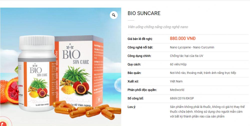 Thu hồi hiệu lực Giấy tiếp nhận đăng ký bản công bố sản phẩm Bio Sun Care