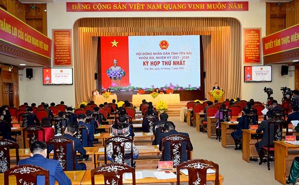 Kỳ họp thứ nhất HĐND tỉnh Yên Bái khóa XIX, nhiệm kỳ 2021 - 2026. Ảnh TL