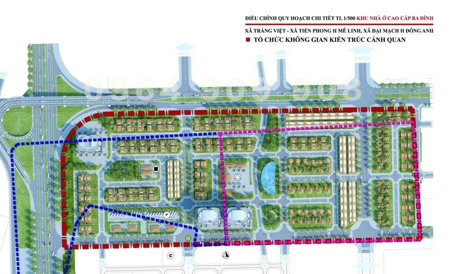 Điều chỉnh đồ án quy hoạch hai dự án tại Mê Linh và Đông Anh