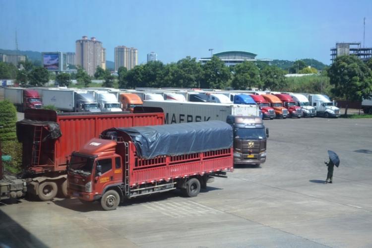 hang tram container qua thanh long nam un tac o cua khau lao cai