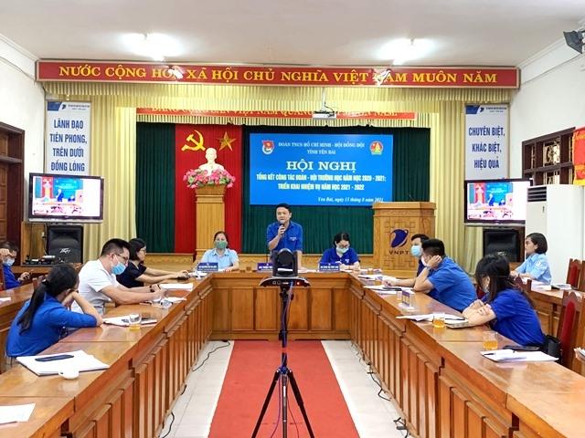 hội nghị trực tuyến Tổng kết công tác Đoàn - Đội trường học năm học 2020 - 2021; triển khai chương trình năm học 2021 - 2022.