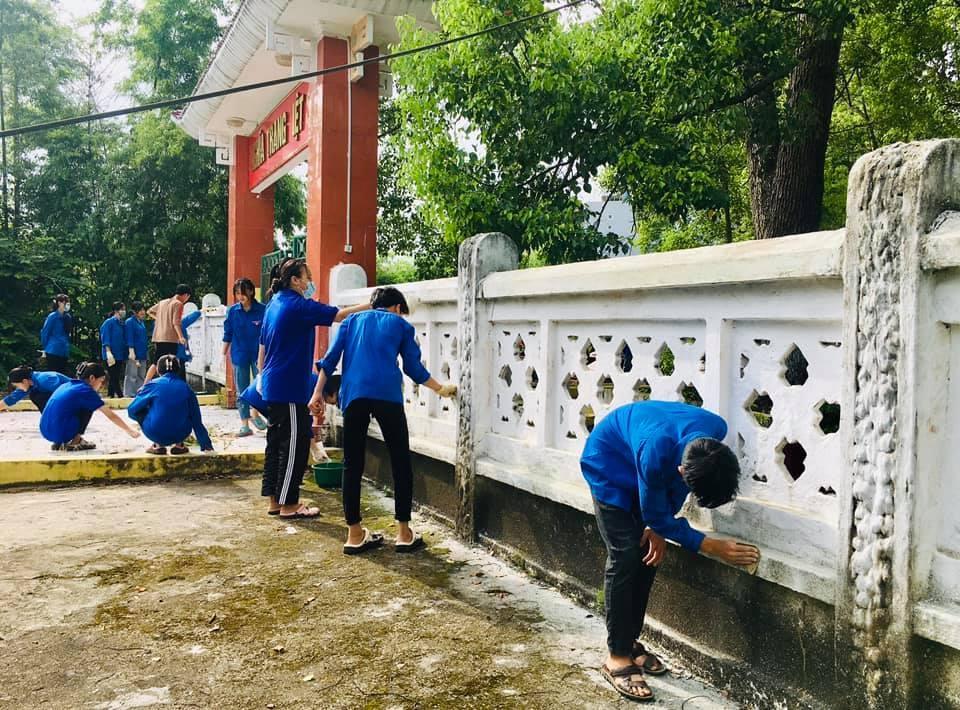 Đoàn viên thanh niên tổ chức các hoạt động hoạt động tri ân nhân kỷ niệm 74 năm Ngày Thương binh - Liệt sĩ (
