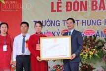 truong thpt hung khanh don bang cong nhan truong chuan quoc gia