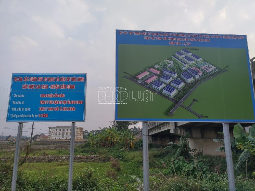 Dự án do huyện Cẩm Giàng làm chủ đầu tư dùng rác, đất thải san lấp mặt bằng?