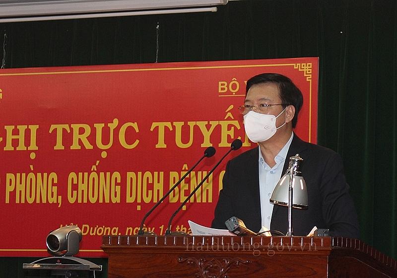 Bí thư Tỉnh ủy Hải Dương - Đồng chí Bí thư Tỉnh ủy Phạm Xuân Thăng phát biểu tại hội nghị