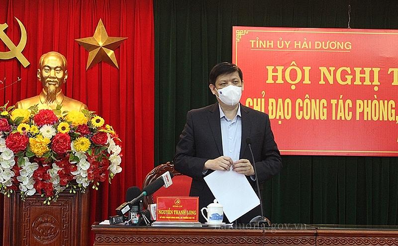 Bộ trưởng Bộ Y tế Nguyễn Thanh Long phát biểu tại hội nghị