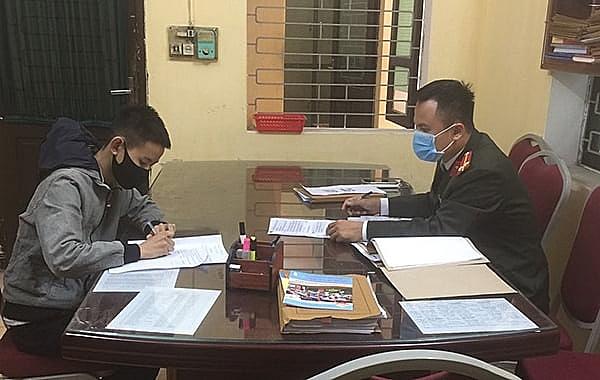Công an huyện Thanh Hà xử lý đăng tin FB sai Covid-19