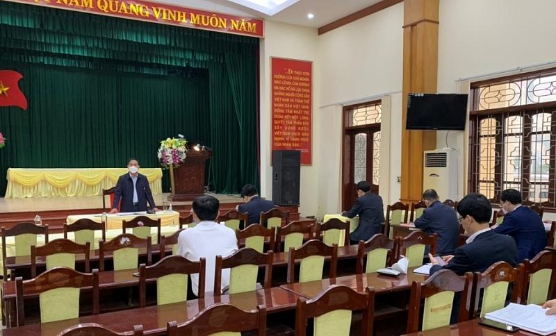 Phó Chủ tịch UBND tỉnh Hải Dương phát biểu tại buổi làm việc
