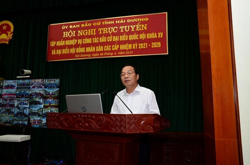 Hội nghị tập huấn nghiệp vụ công tác bầu cử đại biểu Quốc hội khóa XV