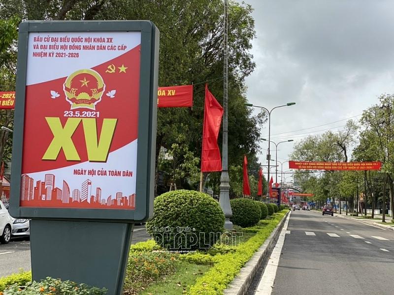 TP Hải Dương trang hoàng rực rỡ trước ngày bầu cử