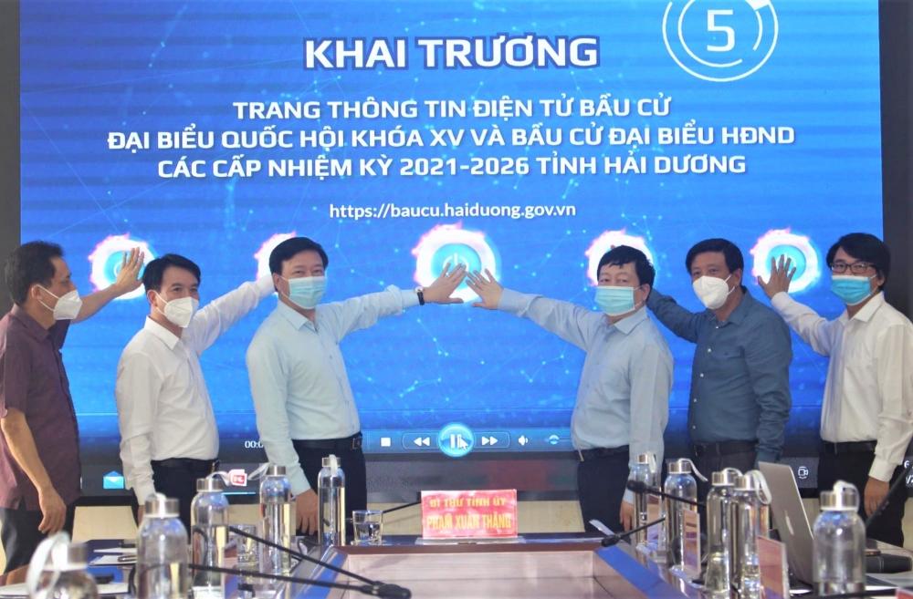 Khai trương chuyên trang thông tin điện tử về bầu cử tỉnh Hải Dương