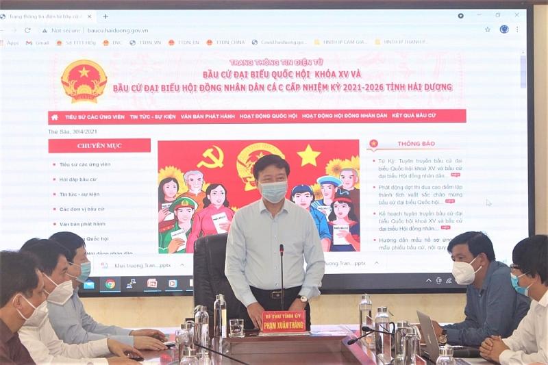 Khai trương trang thông tin bầu cử tỉnh Hải Dương