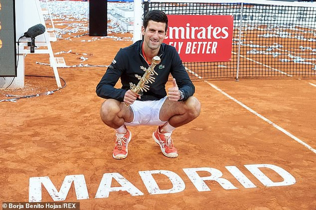 tennis djokovic da can bang thanh tich gianh 33 danh hieu masters cua nadal