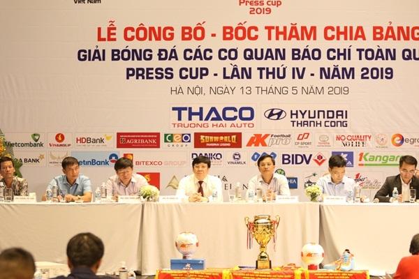Báo Tuổi trẻ Thủ đô rơi vào bảng C giải bóng đá Press Cup 2019 khu vực Hà Nội