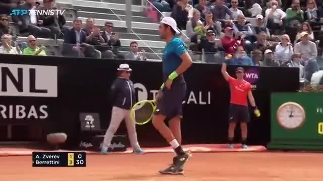 Rome Masters 2019 (vòng 2), Berrettini - A.Zverev: Bất ngờ lớn
